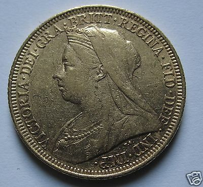 1895 Queen Victoria  Sydney Mint Full Sovereign Gold Coin