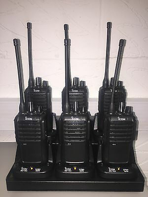 6 x ICOM IC-F4002 UHF Radio's Complete With Charger
