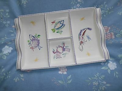 Pool Pottery Orderve Tray