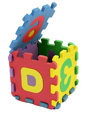 Wisely 36pcs mini puzzle  baby development  Toys Foam Mat of number and letters