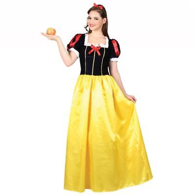 Ladies Snow White Princess Costume Book Week Fancy Dress Fairytale Outfit
