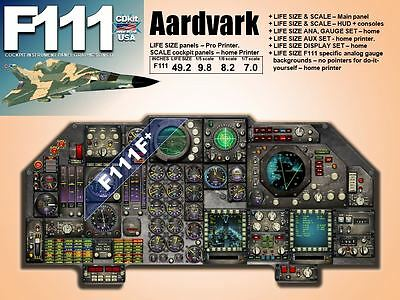 F111 AARDVARK COCKPIT instrument panel CDkit
