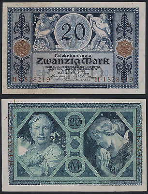 20 Marks German Note Issued 4 November 1915 - AUNC/UNC