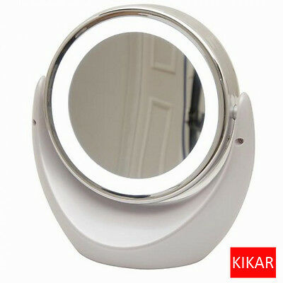 Desktop LED Two Sided Swivel Cosmetic Makeup Vanity Mirror Beauty Facial Light