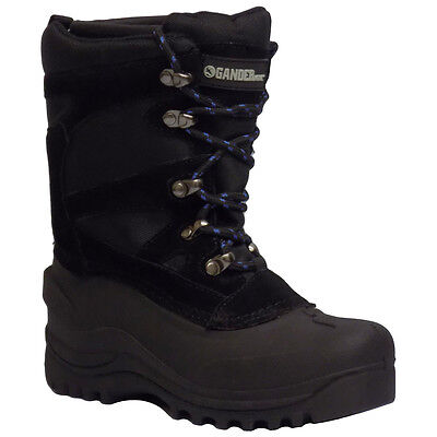 Itasca SNOW TREX Youth Boys Black Lace Up 200g Insulated Winter Snow Boots