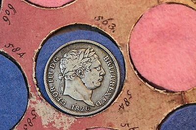 1820 George III Silver Shilling. Spink 3790.