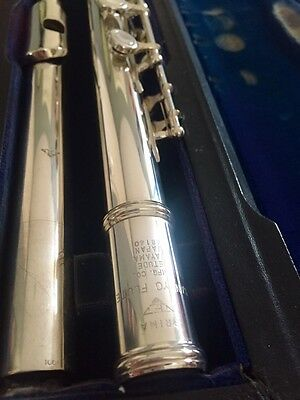 Sankyo Etude (Cf201) Solid Silver Head Closed-Hole Flute With C-Foot (Superb)