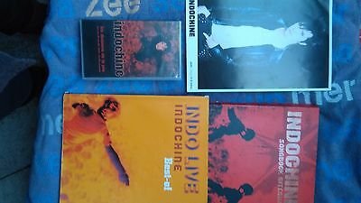Lot collector partitions + affiche Indochine
