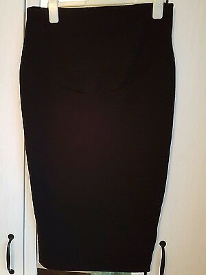 new look maternity black midi skirt size 12 NEW