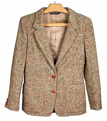 Vintage ARTHUR CHAPNIK Multi-Colored Wool Tweed Blazer Suit Coat Women's Sz. 8