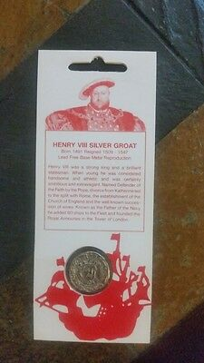 Replica Groat of Henry VIII &Presentation Pack& FDC with 1 pound coin