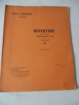 Partition Alberic Magnard Ouverture Orchestre Samazeuilh 1918