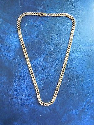 Heavy Solid 14ct Yellow Gold Curb Chain Necklace 16 Inches