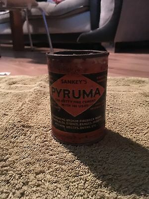 Vintage Tin Can Sankeys Pyruma