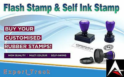 Personalized Custom Self Inking Rubber Stamp - Customized