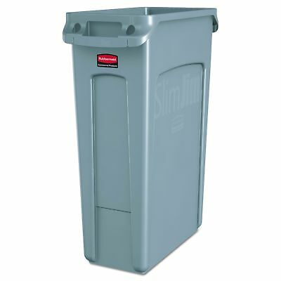Rubbermaid Commercial Slim Jim Receptacle with Venting Channels Rectangular P...