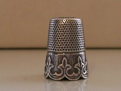 Continental 925 Sterling Silver Thimble, Nice Border Pattern