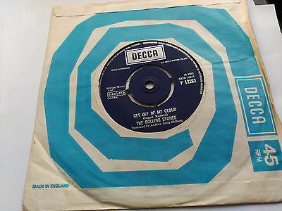 7'' The Rolling Stones - Get Off Of My Cloud  - Decca Uk Vg+