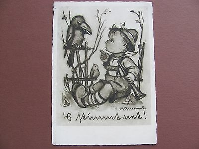 Rare old Hummel postcard ++ The Opinion I ++ Buff without color Nr.4498 written
