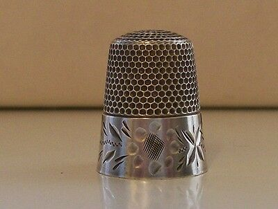 Nice Rare Waite Thresher & Co. (United States) Sterling Silver Thimble
