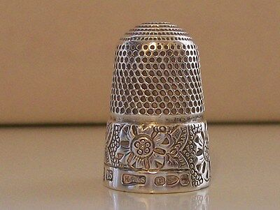 Antique Henry Griffiths & Sons Solid Silver Thimble Hallmark Chester 1892