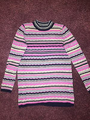 ASOS Maternity Knitted Stripe Tunic Top Size 10