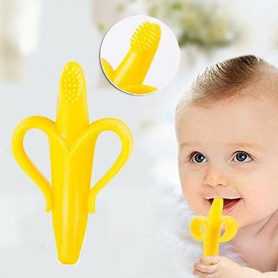 Soft Toothbrush Banana Brush Teething For Baby Kids Toddler Infant Chewable