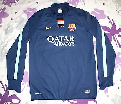 Storm-Fit New With Tag Fc Barcelona Player Issue Match Worn Water Repellent Nike