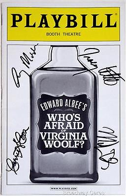 Full Cast Tracy Letts Signed WHO'S AFRAID OF VIRGINIA WOOLF? Playbill