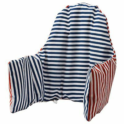 IKEA PYTTIG Support pillow and cover, red, blue NEW