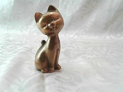 Lovely Cat Bronze Statue  Amazing  Figurine Vintage Collectable Dog Horse