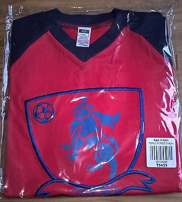 JOB LOT x16 FOOTBALL PYJAMA SETS NAVY & RED - SIZE 3-4 YEARS - NEW IN PACKAGING