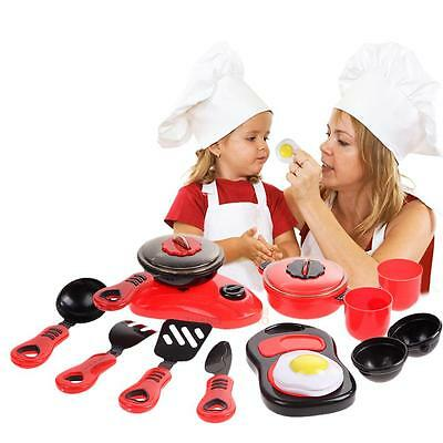 Baby Kid Children Kitchen Cooking Toy Set DIY Food Pan Dishes Cookware Tool