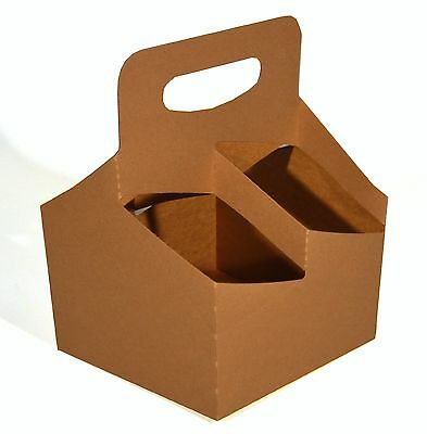 Southern Champion Tray 2797 Kraft Paperboard Drink Carrier with Handle Hold 4...