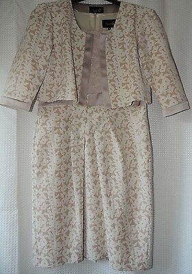 Fee G cream flower mother of the bride dress and jacket size 14