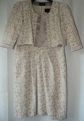 Fee G cream flower mother of the bride dress and jacket size 16