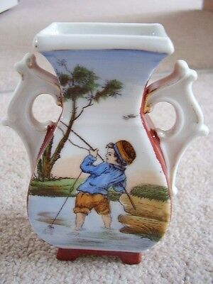 Antique Dresden Germany Porcelain small vase,handled