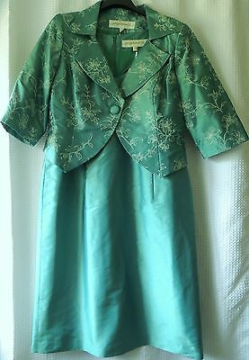 Beautiful outfit for mother of the bride 100% silk British designer size 18
