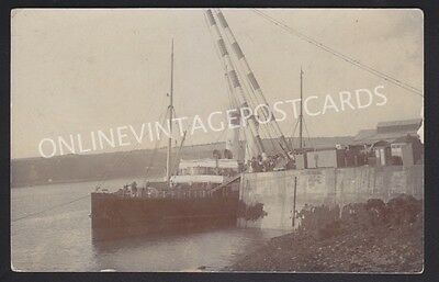 Pembrokeshire Unloading Ship Haverfordwest Real Photo