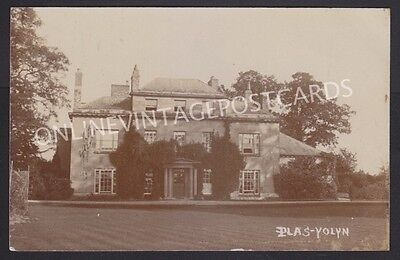 Shropshire Plas-Yolyn Ellesmere Large Country House Home Real Photo