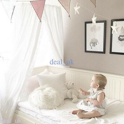 Round Bed Canopy Mosquito Netting Boys Girl Kids Baby Cotton Bedcover