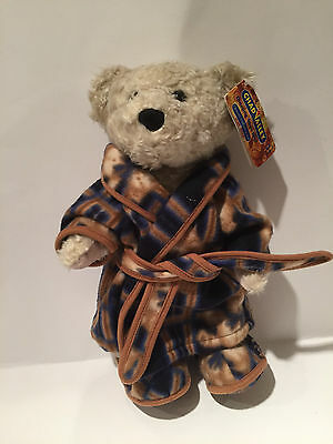Chad Valley Collectable Dressing Gown Bear with Fluffy Slippers & Tags