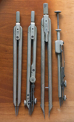 4 Antique Drawing Instruments
