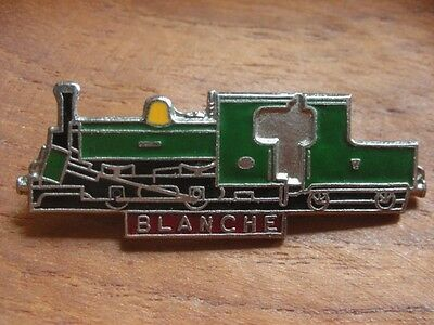Engine Blanche Train Enamel Rail Railway Transport Pin Badge