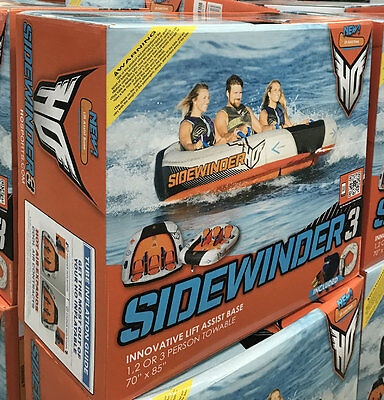 NEW 2017 1 2 3 Person HO Sports Sidewinder 3 Towable Water Ski Tube Boat Lake