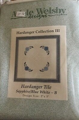 Hardanger Tile Unopened Kit By Adele Welsby Blue And White