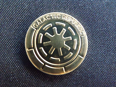 Star Wars - Rare Gold Galactic Republic Medalionz (Revenge Of The Sith)