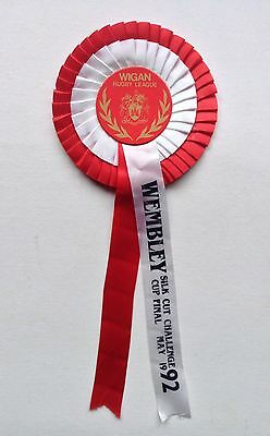 Wigan Warriors Rosette 1992 Challenge Cup Final Wembley Rugby League