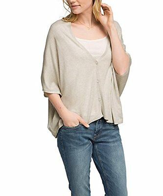 Grigio (LIGHT GREY 5 044) (TG. Small) ESPRIT Oversize - Cardigan a maniche 3/4 D