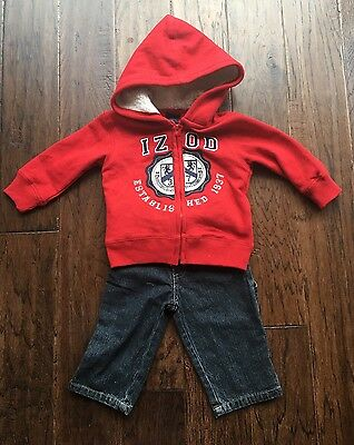 Baby/Toddler Boys 2 pc. IZOD Sweatshirt and Jeans Set Size 12 months NWOT